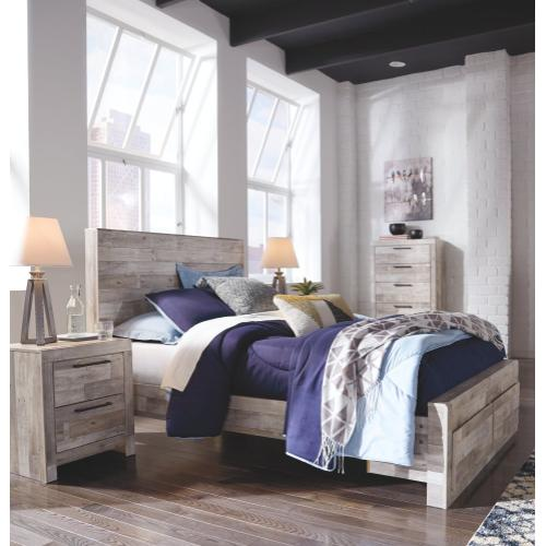 Effie Full Panel Bed With 2 Storage Drawers