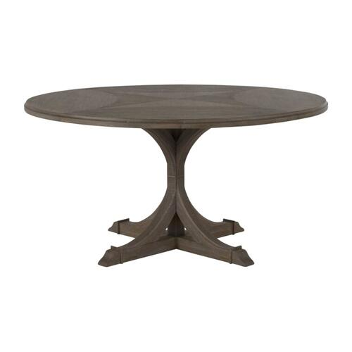 Adams Round Dining Table- Gray