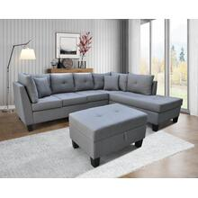 9125 Linen Sectional Sofa - RIGHT