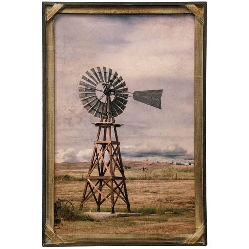 Style Craft - Farm Field  Textured Framed Print  36in X 24in