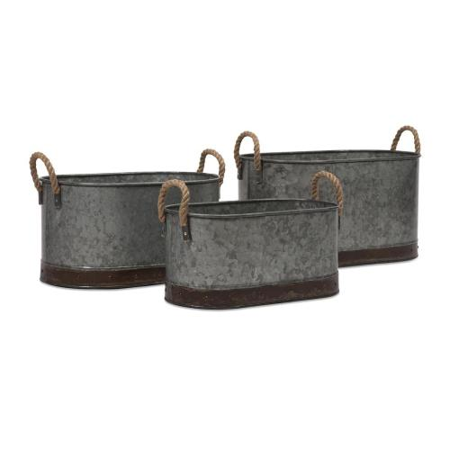Camay Oval Tubs - Set of 3