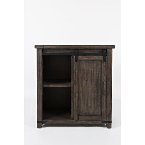 "Madison County 32"" Barn Door Accent Cabinet - Barnwood"