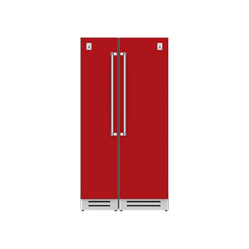 "Hestan - 42"" Column Freezer (L) and Refrigerator ® Ensemble Refrigeration Suite - Matador"