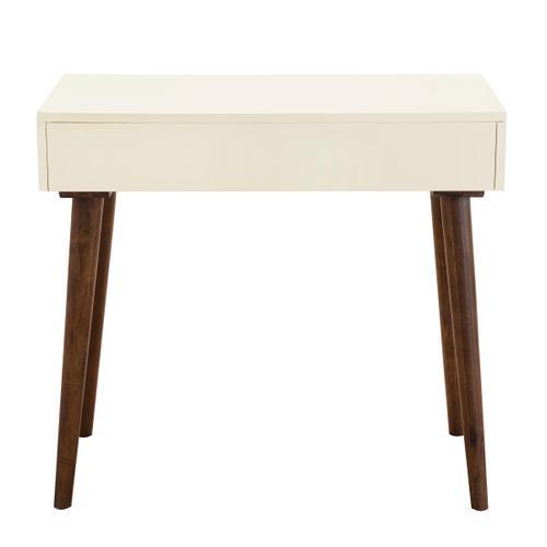 Accentrics Home - Mid-Century Modern Mini Desk in Off White