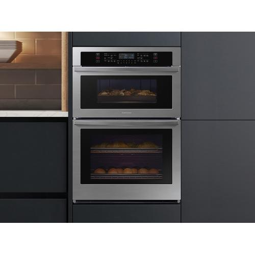 """30"""" Microwave Combination Wall Oven in Black Stainless Steel"""