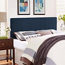 View Product - Oliver Queen Upholstered Fabric Headboard in Navy