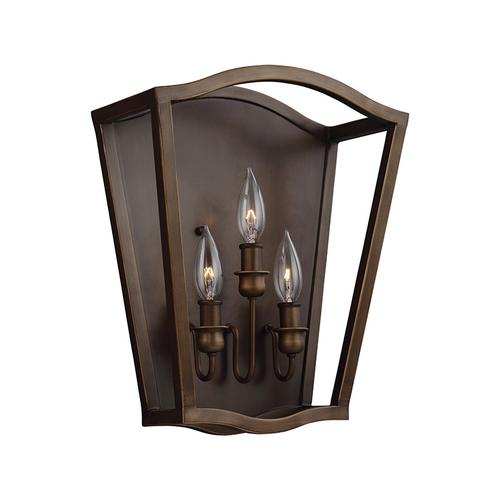 Yarmouth Triple Sconce Painted Aged Brass