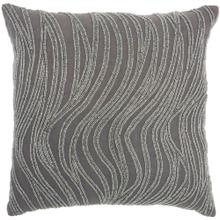 "Luminescence E1569 Grey 18"" X 18"" Throw Pillow"