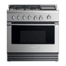 "Dual Fuel Range, 36"", 4 Burners with Griddle, LPG"