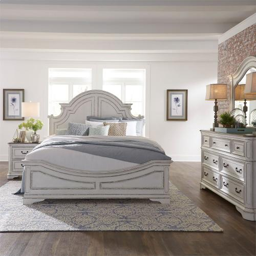 King California Panel Bed, Dresser & Mirror, N/S