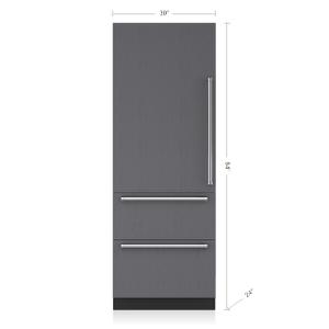 "Subzero30"" Designer Over-and-Under Refrigerator/Freezer - Panel Ready"