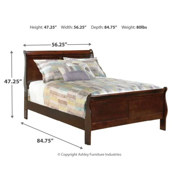 Full Sleigh Bed With 2 Nightstands
