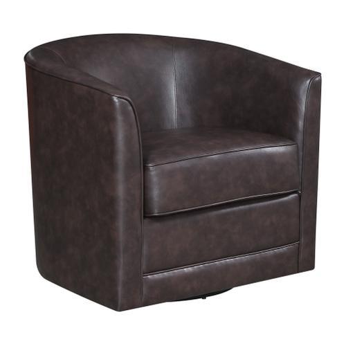 Milo Swivel Accent Chair, Chocolate Brown U5029c-04-65a