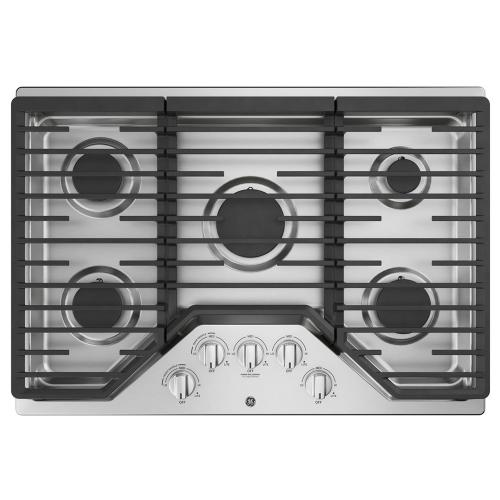 "GE 30"" Built-In Deep-Recessed Edge-to-Edge Gas Cooktop Stainless Steel - JGP5030SLSS"