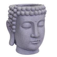 View Product - Gray Buddha Head Planter