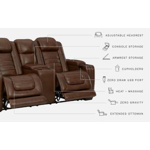 Signature Design By Ashley - Backtrack Power Reclining Loveseat With Console