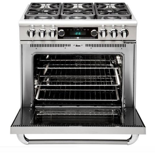 "Capital - 36"" Range w/ 4 Sealed Burners @ 19K BTU's / hr Dual Fuel Self Clean"