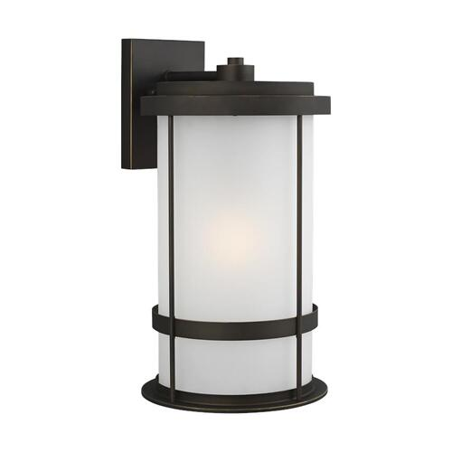 Wilburn Extra Large One Light Outdoor Wall Lantern Black Bulbs Inc