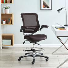 See Details - Edge Drafting Chair in Brown