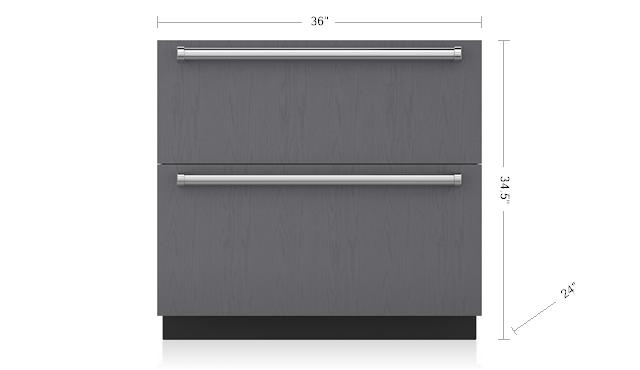 "Subzero36"" Designer Refrigerator/freezer Drawers With Ice Maker - Panel Ready"