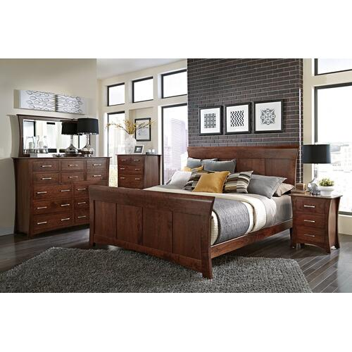 Simply Amish - Loft II Panel Bed, Queen