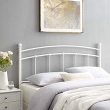 Abigail King Metal Headboard in White