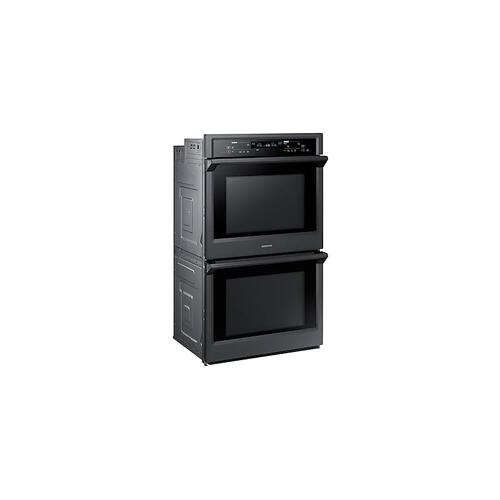 "30"" Smart Double Wall Oven with Steam Cook in Black Stainless Steel"