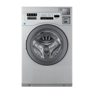 """CROSSOVER 2.0Crossover True Commercial Laundry - 3.5 CF Heavy Duty Front Load Washer, Coin Option Included/Card Ready, Silver, 27"""""""