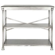 See Details - Jamison Medium Bookcase - Dark Silver