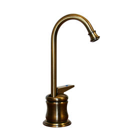 Forever Hot ® Point of Use drinking water faucet with a gooseneck spout and a self-closing handle.