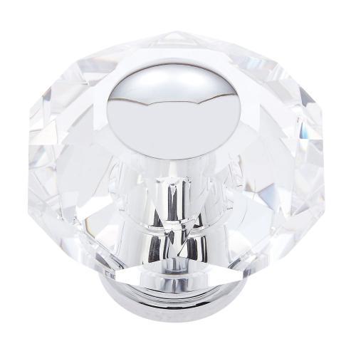 Polished Chrome 60 mm 8-Sided Crystal Knob