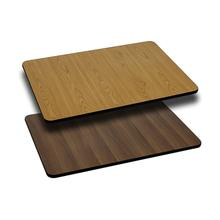 View Product - 30'' x 42'' Rectangular Table Top with Reversible Natural or Walnut Laminate Top