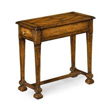 Narrow Walnut Side Table