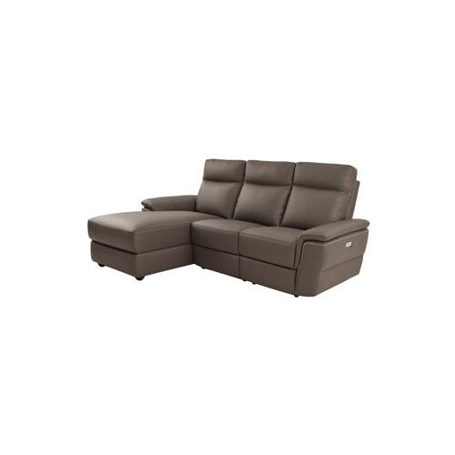 3-Piece Modular Power Reclining Sectional with Left Chaise