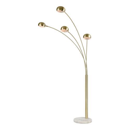 Stein World - Skyline 4-light Adjustable Floor Lamp In Satin Brass