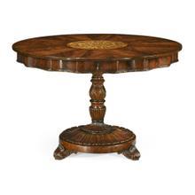 Finely inlaid mahogany centre table