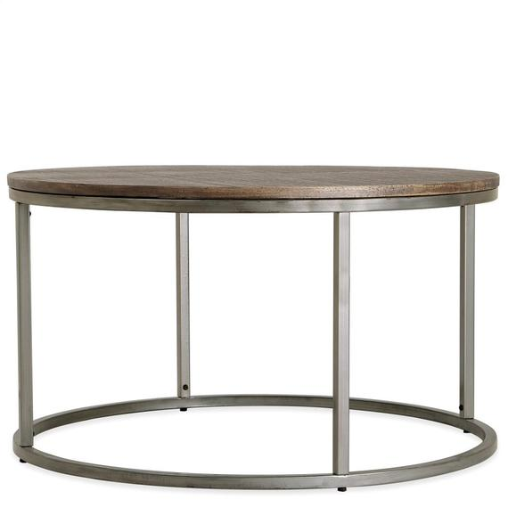 Riverside - Round Coffee Table - Brindled Fawn Finish