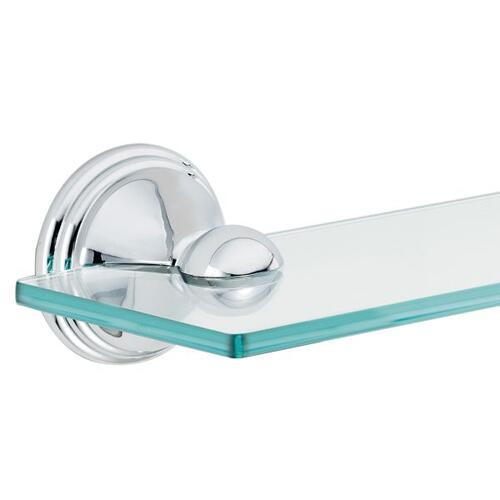 Preston chrome vanity shelf