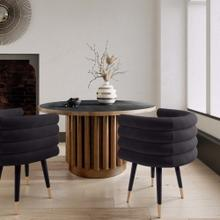 View Product - Betty Black Velvet Dining Chair