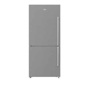 "Beko30"" Freezer Bottom Stainless Steel Refrigerator (Left Hinge)"