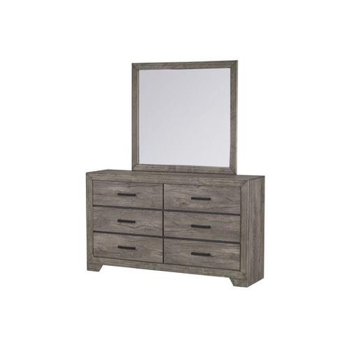 Fairhope 6-Drawer Dresser, Grey