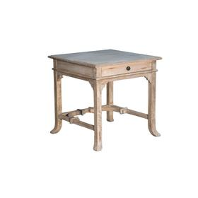 Lamp Table, Available in Aged White Finish Only.