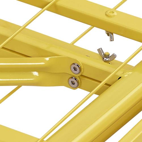 Modway - Horizon Twin Stainless Steel Bed Frame in Yellow