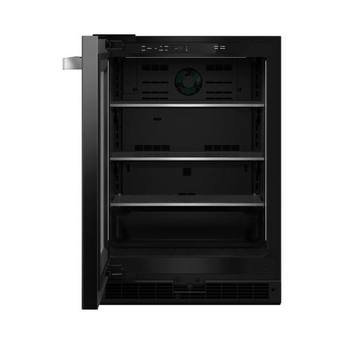 """24"""" NOIR™ Under Counter Glass Door Refrigerator, Left Swing"""