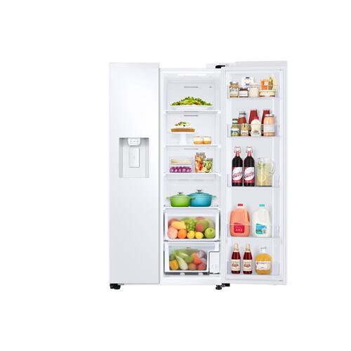 27.4 cu. ft. Large Capacity Side-by-Side Refrigerator in White