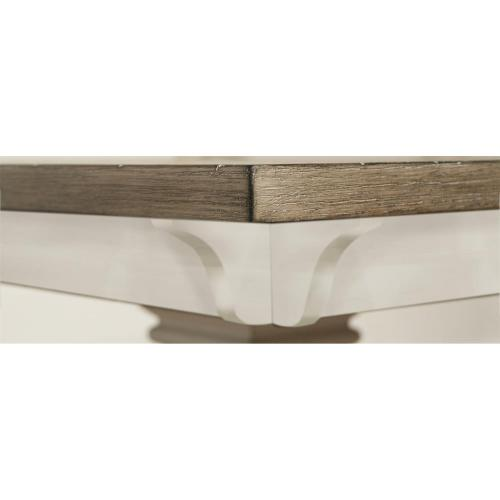 Myra - Double Pedestal Table Base - Natural/paperwhite Finish