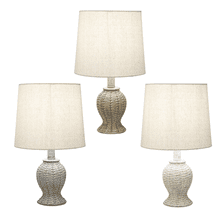 Woven Base Accent Lamp. 40W Max. (3 pc. ppk.)
