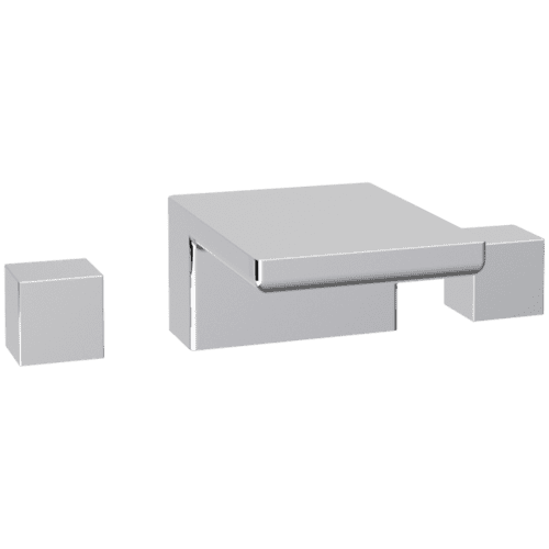 Milan 3-Hole Deck Mount Tub Filler SQU Chrome
