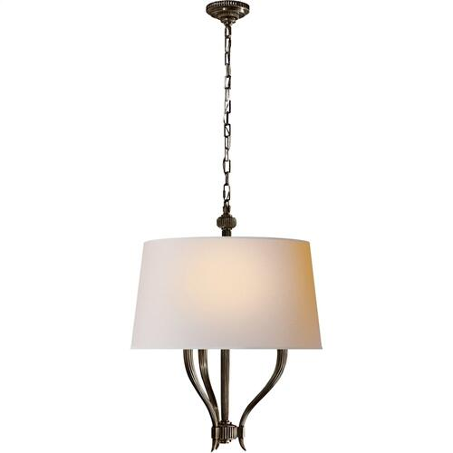 Visual Comfort CHC2463BZ-NP E. F. Chapman Ruhlmann 3 Light 22 inch Bronze Hanging Shade Ceiling Light