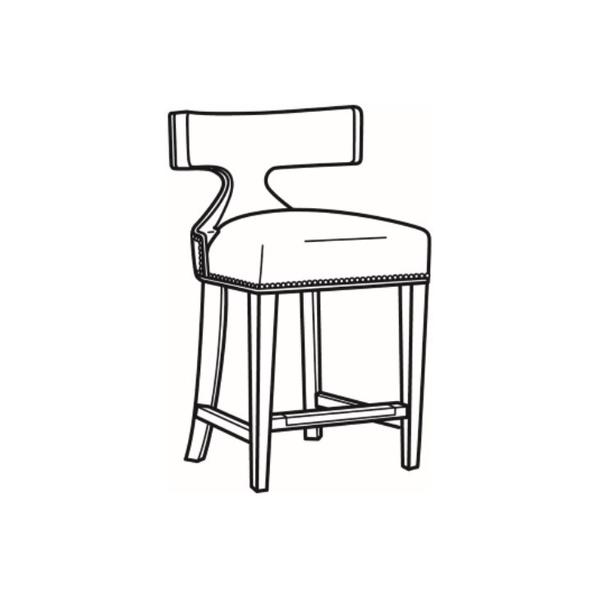 See Details - Leather Counter Stool